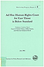 Ad Hoc Human Rights Court for East Timor is…