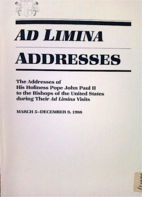 Ad Limina Addresses by Pope John Paul II
