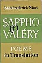 Sappho to Valery by John Frederick Nims