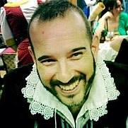 Author photo. Mathew Gnagy, wearing one of his 17th century costumes.