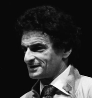 "Author photo. Jerzy Kosinski, Miami Book Fair International, 1985, by ""MDCArchives"" (Wikimedia Commons)"