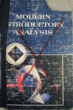 Modern Introductory Analysis by Mary P.…