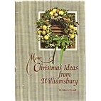 More Christmas ideas from Williamsburg by…
