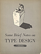 Some brief notes on type design by Stempel…