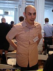 Author photo. MoCCA Art Festival 2008, photo by Lampbane