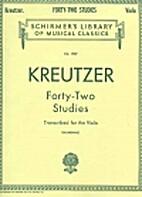 Kreutzer - 42 Studies - For Viola Solo by…