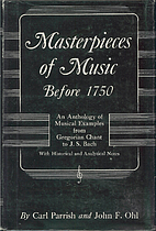 Masterpieces of Music Before 1750 by Carl…