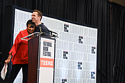 "Author photo. Librarian of Congress Carla Hayden introduces Markus Zusak on the Teen Stage at the National Book Festival, August 31, 2019. Photo by David Rice/Library of Congress. By Library of Congress Life - 20190831DR0578.jpg, CC0, <a href=""https://commons.wikimedia.org/w/index.php?curid=82899292"" rel=""nofollow"" target=""_top"">https://commons.wikimedia.org/w/index.php?curid=82899292</a>"