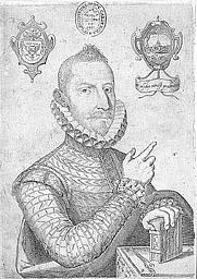 Author photo. Retrato de Mateo Alemán. Grabado en cobre aparecido en la edición príncipe del Guzmán de Alfarache (Madrid, Várez de Castro, 1599).