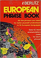Berlitz Europeans Phrase Book