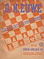 Theorie der schaakopeningen. No. 12: Open…