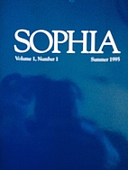Sophia Vol 1, Number 1 by Katherine…