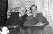 Author photo. (<b>right</b>) with Kalman Kalocsay: Image © <a href=&quot;http://www.bildarchiv.at/&quot;>ÖNB/Wien</a>