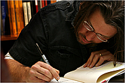 Author photo. David Foster Wallace in 2006. Photo credit: Suzy Allman for the New York Times.