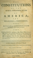 The constitutions of the several independent…