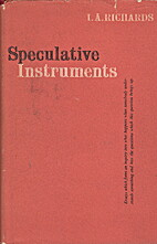 Speculative Instruments by I. A. Richards