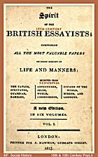 Spirit of the British Essayists; Comprising…