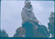 Author photo. Photo of Lee Hadden on a camel, in Cairo, Egypt, 1983.