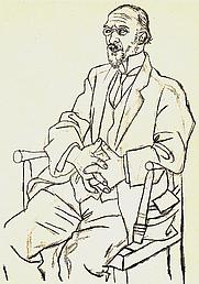 Author photo. Portrait by Picasso (1920)