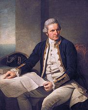 Author photo. Portrait of James Cook (1728-1779) by Nathaniel Dance-Holland (1735–1811)