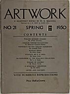 Artwork: A Quarterly edited by D.S. MacColl;…