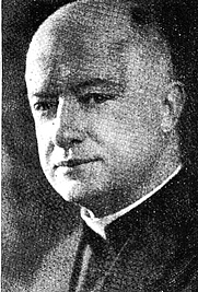 Author photo. Rev. Francis P. Donnelly, S.J., from The Heights (Boston College newspaper), Volume XVI, Number 14, 20 December 1935