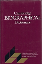The Cambridge Biographical Dictionary by…
