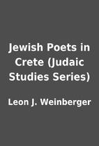 Jewish Poets in Crete (Judaic Studies…