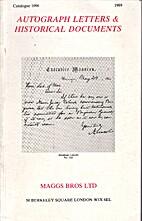Autograph Letters & Historical Documents :…