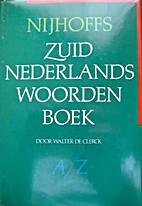 Zuid-Nederlands woordenboek by Nijhoffs