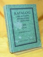 Katalog der Älteren Pinakothek zu…