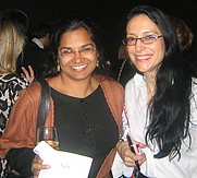 Author photo. Fran Gordon (left) with Sarita Varma <br>at LA Times Book Prize shortlist party, New York, 2007 <br>  Copyright © 2007 <a href=&quot;http://ronhogan.tumblr.com&quot;>Ron Hogan</a>