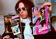 "Author photo. BillyBoy* and ""The BillyBoy* Nouveau Théatre de la Mode"" and Barbie ""Feelin' Groovy"" dolls"