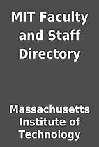 MIT Faculty and Staff Directory by…