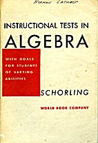 Instructional tests in algebra: With goals…
