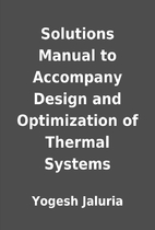 Solutions Manual to Accompany Design and…