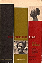 The people of Alor by Cora Dubois