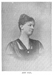 Author photo. Amy Fay (b.1844) Buffalo Electrotype and Engraving co., Buffalo, N.Y.
