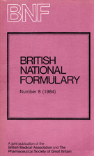 British National Formulary : 8 : 1984 by BNF
