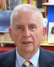 Author photo. Hugh Mackay. Photo courtesy of Mosman Library.