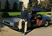 Author photo. John DeLorean [credit: DeLorean Motor Company]