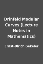 Drinfeld Modular Curves (Lecture Notes in…