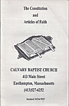Calvary Baptist Church Constitution and…