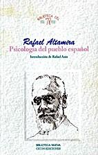 Psicología del pueblo español by Rafael…