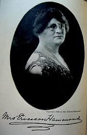 "Author photo. Frontispice in ""Mrs. Ericsson Hammonds Svensk-Amerikanska Kokbok"""