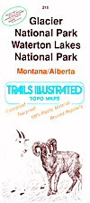 Trails Illustrated Map: Glacier and Waterton…