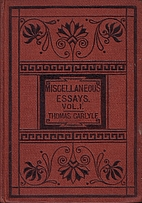 Critical and miscellaneous essays by Thomas…
