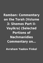 Ramban: Commentary on the Torah (Volume 3:…