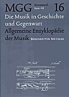 Die Musik in Geschichte und Gegenwart :…