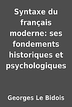 Syntaxe du français moderne: ses…